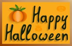 Muurmuurschildering gelukkig Halloween Royalty-vrije Stock Foto's