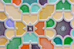 Muurpaneel met een driedimensioneel kleurrijk ornament Het element van decor royalty-vrije stock afbeeldingen