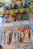 Muurschilderij in Alexander Svirsky Monastery in Staraya Sloboda, Rusland Juli 2016 stock afbeeldingen