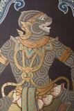 Muurschilderij in Thaise stijl Stock Fotografie