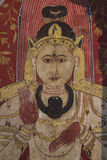 Muurschilderijdetail, Beeldhuis, Kelaniya, Sri Lanka Royalty-vrije Stock Foto