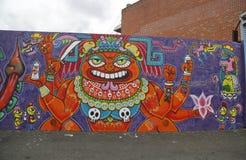Muurschildering in Astoria-sectie in Queens Stock Foto's