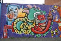Muurschildering in Astoria-sectie in Queens Royalty-vrije Stock Afbeelding