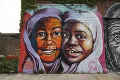 Muurschildering in Astoria-sectie in Queens Royalty-vrije Stock Fotografie