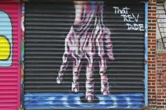Muurschildering in Astoria-sectie in Queens Stock Fotografie