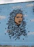 Muurschildering in Astoria-sectie in Queens Stock Foto