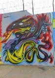 Muurschildering in Astoria-sectie in Queens Royalty-vrije Stock Afbeeldingen