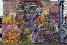 Muurschildering in Astoria-sectie in Queens Stock Afbeelding