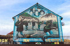 Muurschildering Belfast Stock Foto