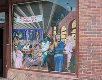 Muurschildering buiten Legenden Live Music Corner Downtown Nashville Stock Afbeelding