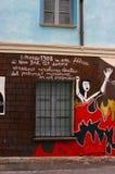 Muurschildering die de brand van de Driehoek van 1908 herdenkt Stock Foto