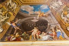 Muurschildering - het Museum van Vatikaan stock afbeeldingen