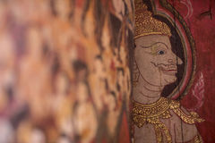 Muurschildering het schilderen Royalty-vrije Stock Foto's