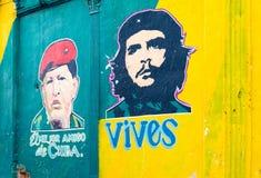 Muurschildering het schilderen in Havana Cuba Stock Foto
