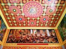 Muurschildering het schilderen in tempel Royalty-vrije Stock Foto
