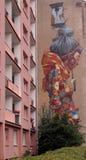Muurschildering La Lodz 2 stock fotografie