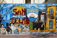 Muurschildering in San Telmo, Buenos aires, Argentinië Royalty-vrije Stock Afbeelding