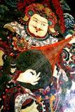 Muurschildering van Boeddhisme stock foto