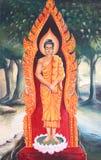 Muurschildering van de biografie van Boedha Royalty-vrije Stock Afbeeldingen