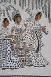 Muurschildering van Indische Dames Stock Foto