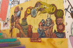Muurschilderingen van Valparaiso Royalty-vrije Stock Afbeelding