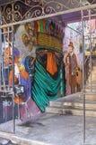 Muurschilderingen van Valparaiso Stock Foto's