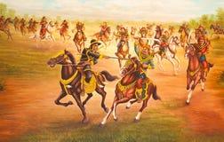 Muurschilderingen in Wat Thai Royalty-vrije Stock Foto