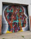 Muurschilderingkunst in Astoria-sectie in Queens Stock Foto