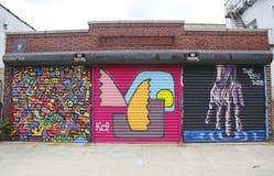 Muurschilderingkunst in Astoria-sectie van Queens Royalty-vrije Stock Foto's