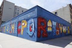 Muurschilderingkunst bij Alfabetstad in East Village, Lower Manhattan Stock Fotografie