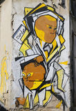 Muurschilderingkunst bij Florentin-buurt in het zuidelijke deel van Tel Aviv Royalty-vrije Stock Fotografie