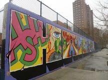 Muurschilderingkunst bij het Oosten Harlem in New York Stock Fotografie