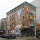 Muurschilderingkunst bij het Oosten Harlem in New York Stock Afbeeldingen