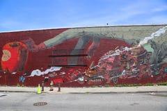 Muurschilderingkunst bij het Oosten Williamsburg in Brooklyn Royalty-vrije Stock Afbeeldingen