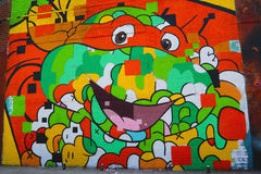 Muurschilderingkunst bij het Oosten Williamsburg in Brooklyn Stock Foto's