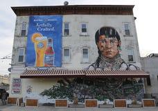 Muurschilderingkunst bij het Oosten Williamsburg in Brooklyn Stock Fotografie