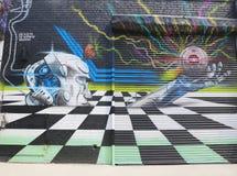 Muurschilderingkunst bij het Oosten Williamsburg in Brooklyn Royalty-vrije Stock Afbeelding