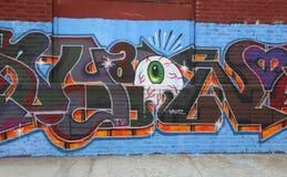 Muurschilderingkunst bij het Oosten Williamsburg in Brooklyn Royalty-vrije Stock Fotografie