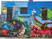 Muurschilderingkunst bij het Oosten Williamsburg in Brooklyn Stock Afbeeldingen