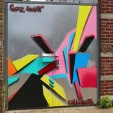 Muurschilderingkunst bij het Oosten Williamsburg in Brooklyn Royalty-vrije Stock Foto's