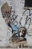 Muurschilderingkunst bij het Oosten Williamsburg in Brooklyn Stock Foto