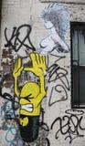 Muurschilderingkunst bij Schaduwrijk in Manhattan Stock Afbeeldingen