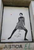 Muurschilderingkunst door Jef Aerosol in Ushuaia, Argentinië Stock Foto's
