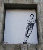 Muurschilderingkunst door Jef Aerosol in Ushuaia, Argentinië Royalty-vrije Stock Afbeelding