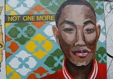 Muurschilderingkunst in Houston Avenue in Soho Stock Foto's