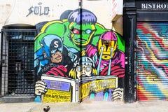 Muurschilderingkunst op een muur in de stad van Londen, het UK royalty-vrije stock fotografie