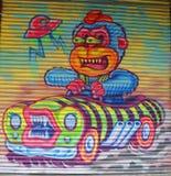 Muurschilderingkunst in Weinig Italië in Manhattan Royalty-vrije Stock Afbeeldingen