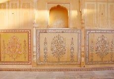 Muurschilderingschilderijen van Bloemen en Bladeren met Natuurlijke Kleuren royalty-vrije stock fotografie