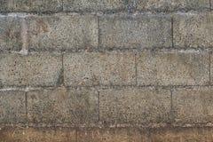 Muurtextuur met cementblokken stock foto's