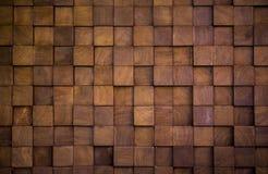 Muurtextuur met houten kubus stock fotografie